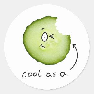 coola som en gurkaklistermärke runda klistermärken