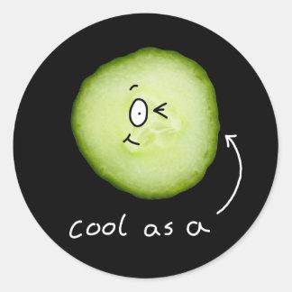 coola som en gurkaklistermärke runt klistermärke