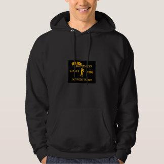 coola tittar svart & guld- hoodie