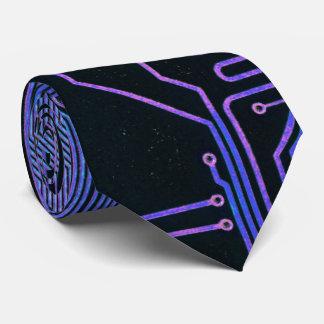 Coolan går runt stiger ombord datorblåttlilor slips
