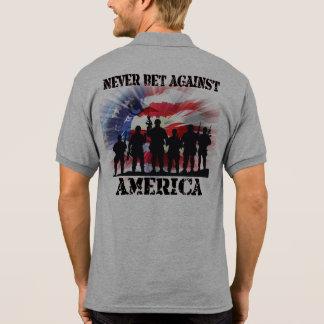 Coolan och patriotiskt slå vad aldrig mot Amerika Polotröja