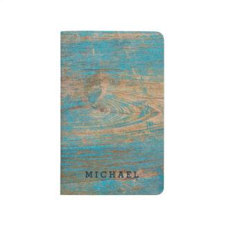 Coolan riden ut blåttskalning målar Wood struktur Anteckningsbok
