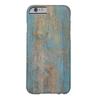 Coolan riden ut blåttskalning målar Wood struktur Barely There iPhone 6 Fodral