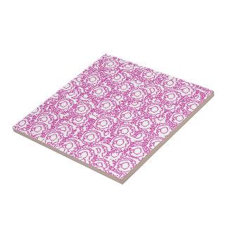 Coolan virvlar runt flickaktigt rosa- och kakelplatta
