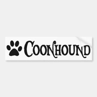 Coonhound (piratstil med pawprint) bildekal