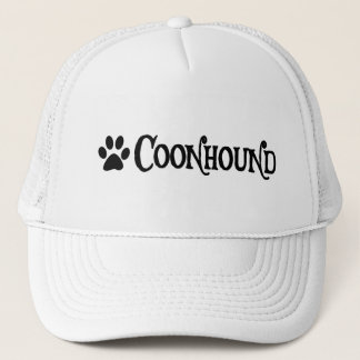 Coonhound (piratstil med pawprint) truckerkeps