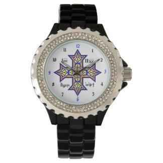 Coptic argt beställnings- armbandsur