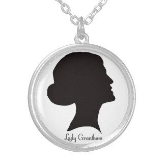 Cora Cameohalsband Silverpläterat Halsband