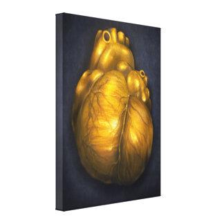 Corazón De Oro - hjärta av guld- kanfas 18x24 Canvastryck