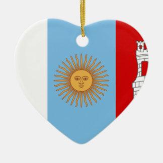Cordoba Argentina flagga Julgransprydnad Keramik