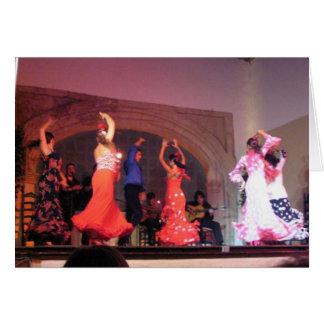 Cordoba flamencodansare hälsningskort