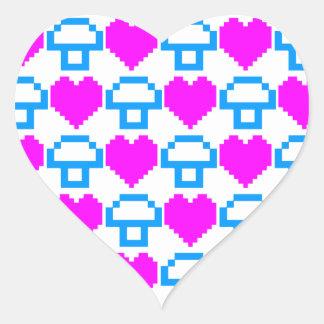 Corey tiger80-tal 8 bet champinjonhjärtor hjärtformat klistermärke