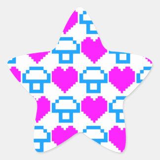Corey tiger80-tal 8 bet champinjonhjärtor stjärnformat klistermärke