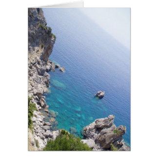 Corfu bevattnar hälsningskort
