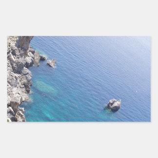Corfu bevattnar rektangulärt klistermärke