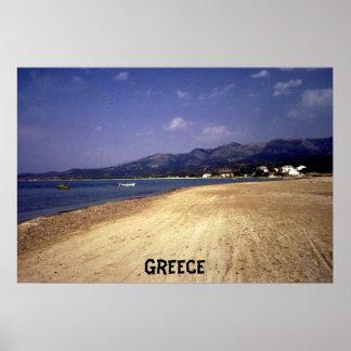 Corfu Grekland affisch