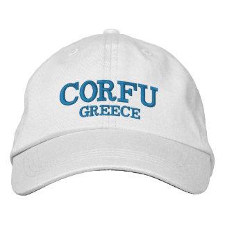 Corfu Grekland anpassningsbarhatt Broderad Keps