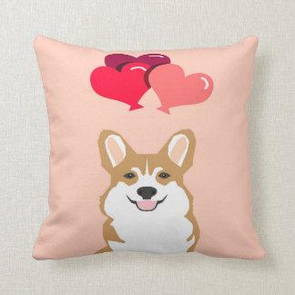 CorgihjärtaBallon - valentin för hund för Kudde