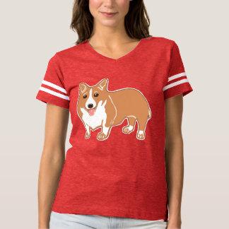 Corgikvinna T-tröja för fotboll T Shirts