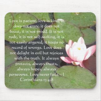 Corinthians13:4 - VERSE för 8 BIBEL OM KÄRLEK Musmatta
