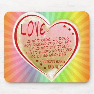 Corinthians 13 för KÄRLEK 1: 5 NLT Musmatta