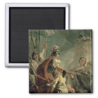 Coriolanus i omnejden av Rome, c.1725 Magnet