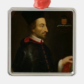 Cornelius Jansen biskop av Ypres Julgransprydnad Metall