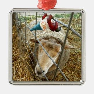 Cornelius och fåren julgransprydnad metall
