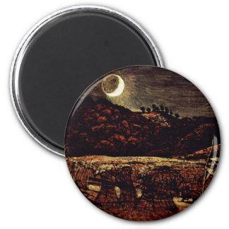 Cornfield i månsken av Palmer Samuel Magnet