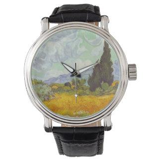 Cornfield med Cypresses Armbandsur