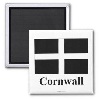 Cornwall flagga med namn kylskåpmagneter