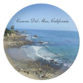 Corona del Mar Kalifornien pläterar Dinner Plate