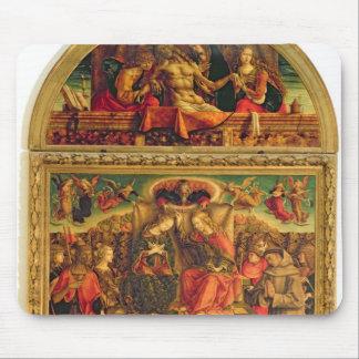 Coronation av oskulden mus mattor
