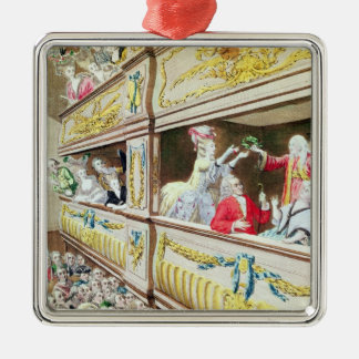 Coronation av Voltaire på theatren Francais Julgransprydnad Metall