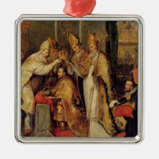 Coronationen av Charles V den heliga romerska Julgransprydnad Metall