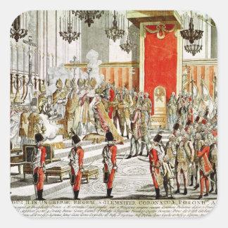 Coronationen av Leopold II på Bratislava Fyrkantigt Klistermärke