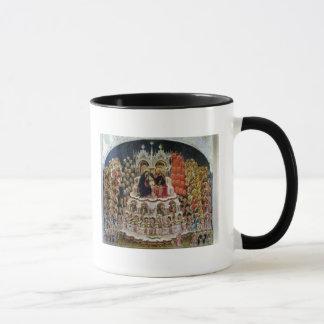 Coronationen av oskulden i paradis, 1438 mugg