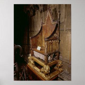 Coronationstol som göras för Edward mig av 'Walter Poster