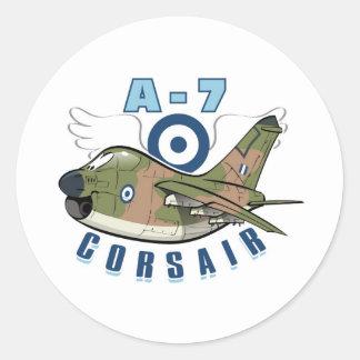 corsair för vought a-7 runt klistermärke