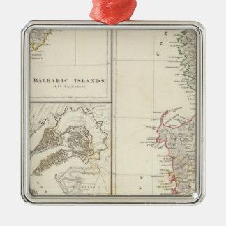 Corsica Sardinia, Balearic Island, Valletta Julgransprydnad Metall