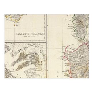 Corsica Sardinia, Balearic Island, Valletta Vykort