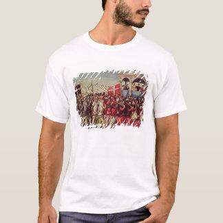 Cortegen av handelsresandear och soldater t shirts