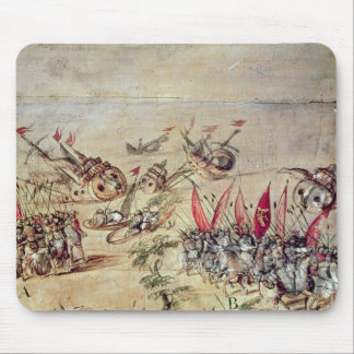 Cortes som sjunker hans flotta av kusten av musmatta