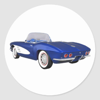 Corvette 1961 C1: Blåttfullföljande: Runt Klistermärke