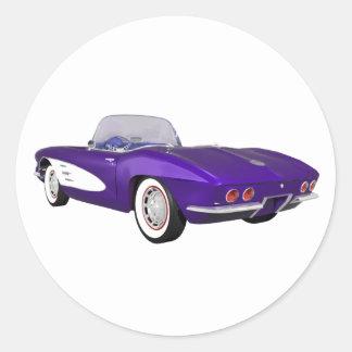 Corvette 1961 C1: Lilafullföljande: Runt Klistermärke