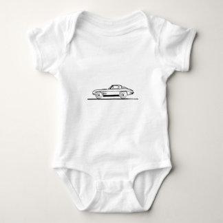 Corvette 1963 sticker den kluvna fönstercoupen för tee shirt