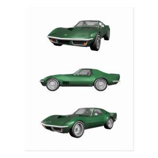 Corvette 1970: Grönt fullföljande Vykort