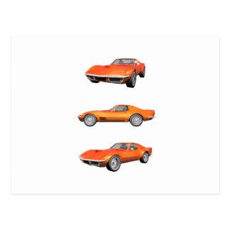 Corvette 1970: Orange fullföljande Vykort