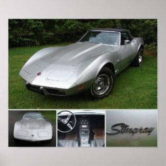 Corvette 1975 affisch