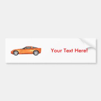 Corvette 2008: Sportbil: Orange fullföljande: Bildekal